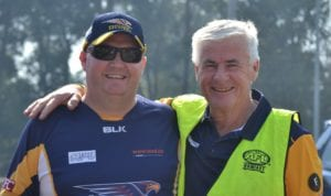 Jon Gawley (l) pictured with retiring President Peter Physick