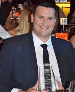 Jared Patira with goalkicking trophy